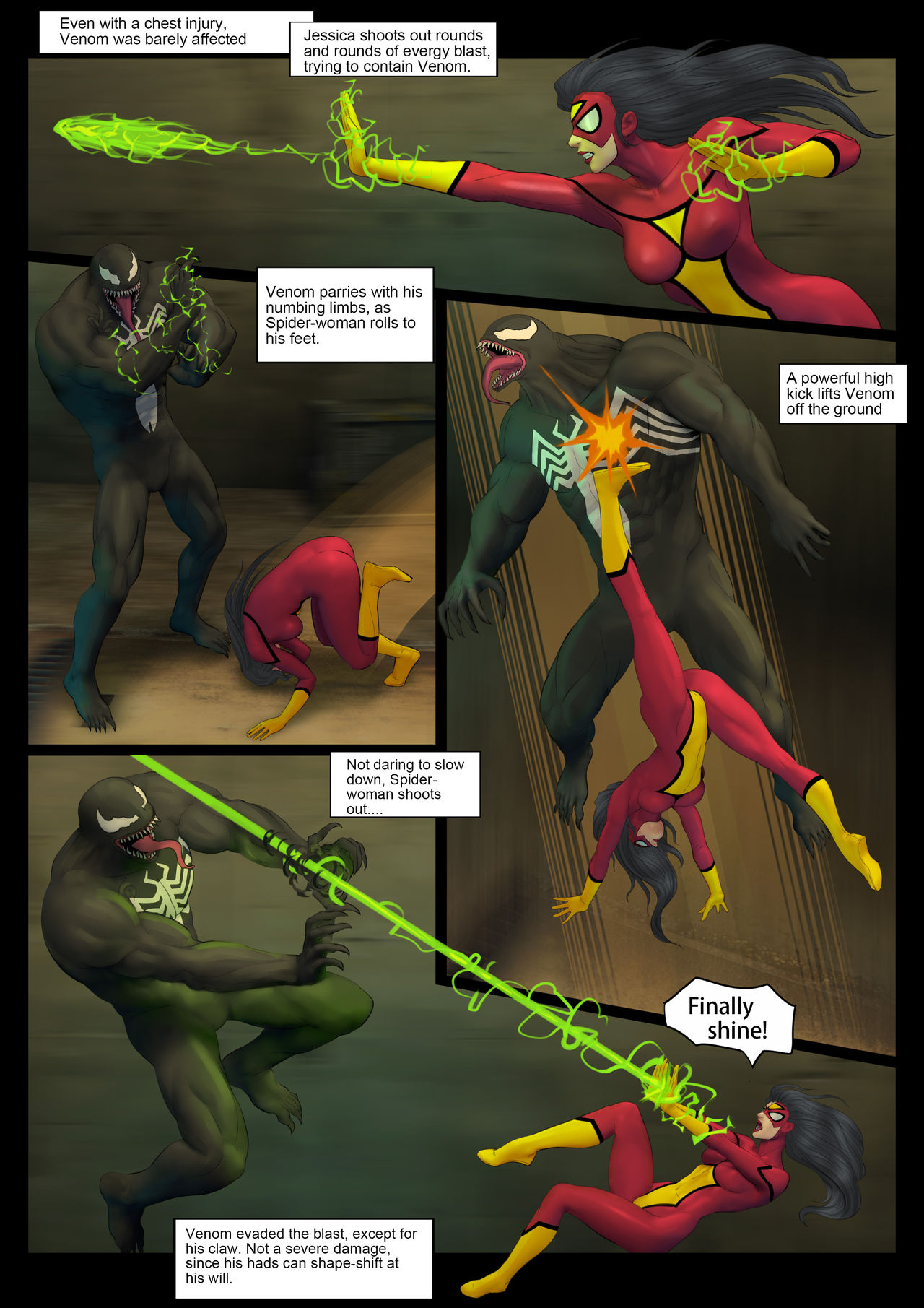 Spider- Woman Doomsday by Feather