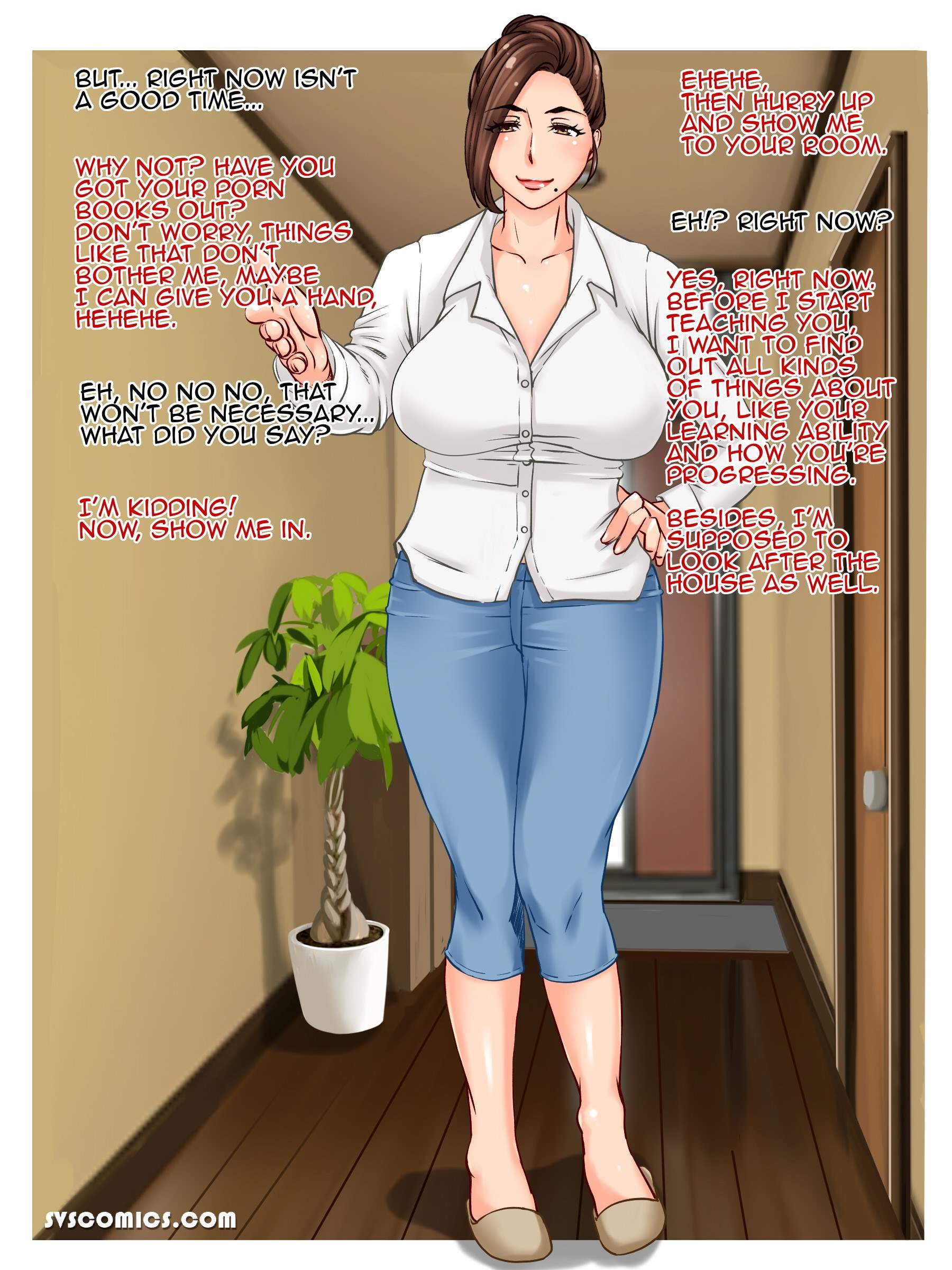 Cheating teacher and my mom both get creampie