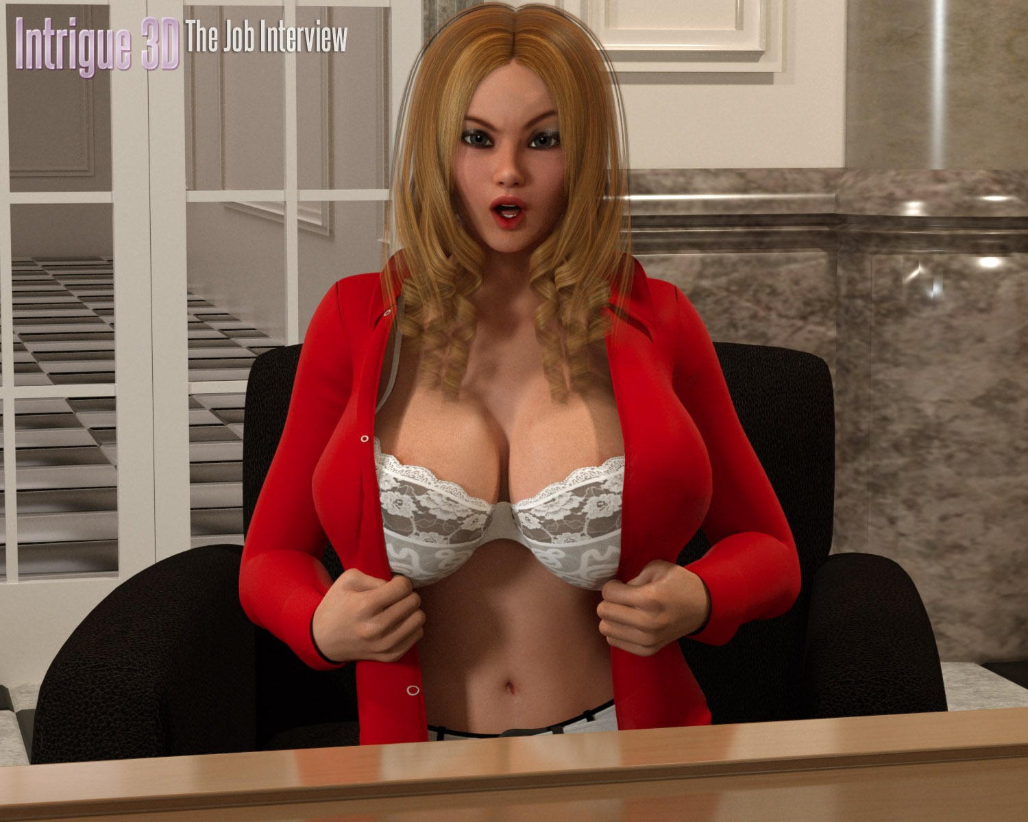 Intrigue3D – She came for job interview