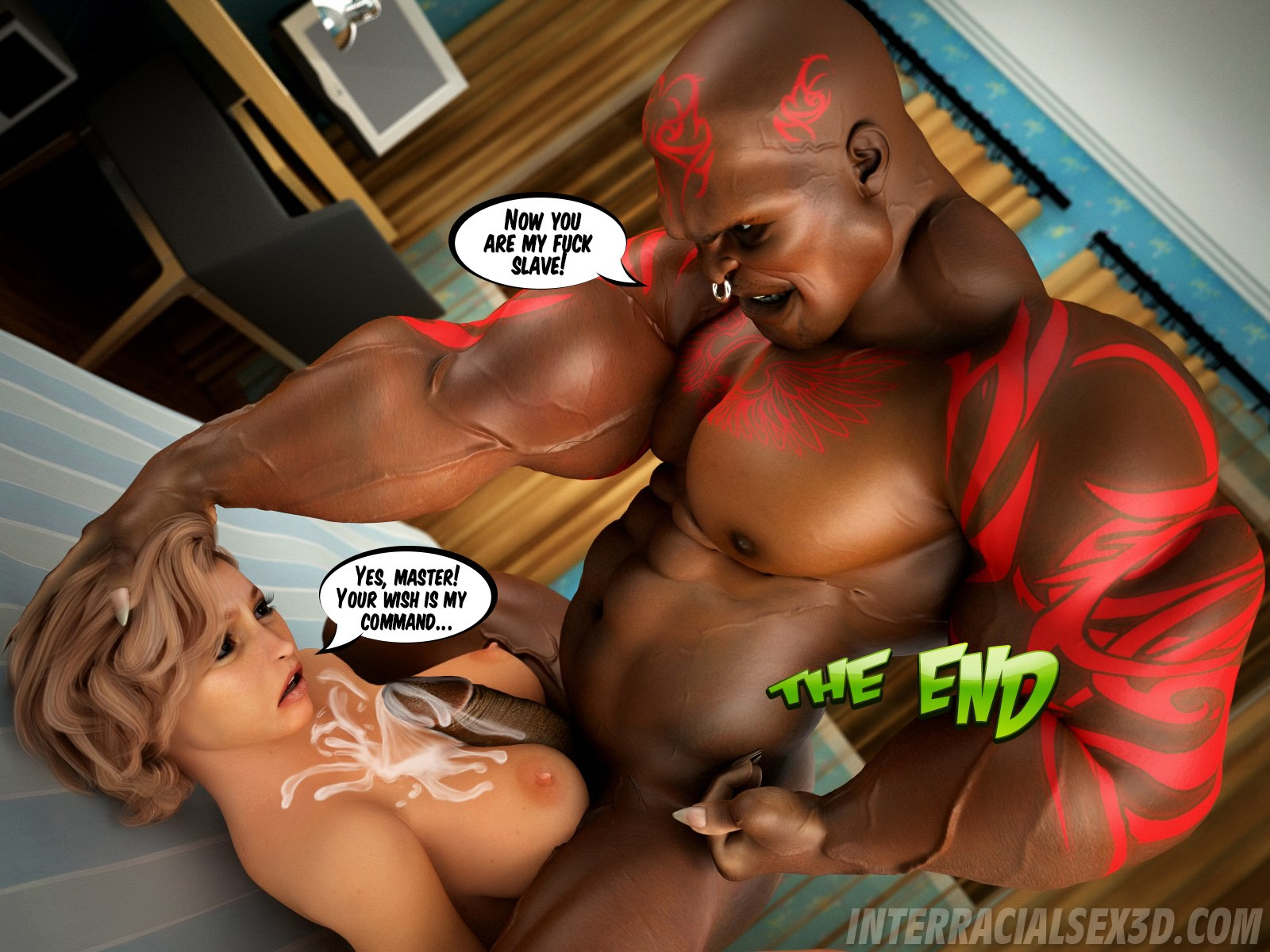 Interracialsex3D-Hot wife cheating
