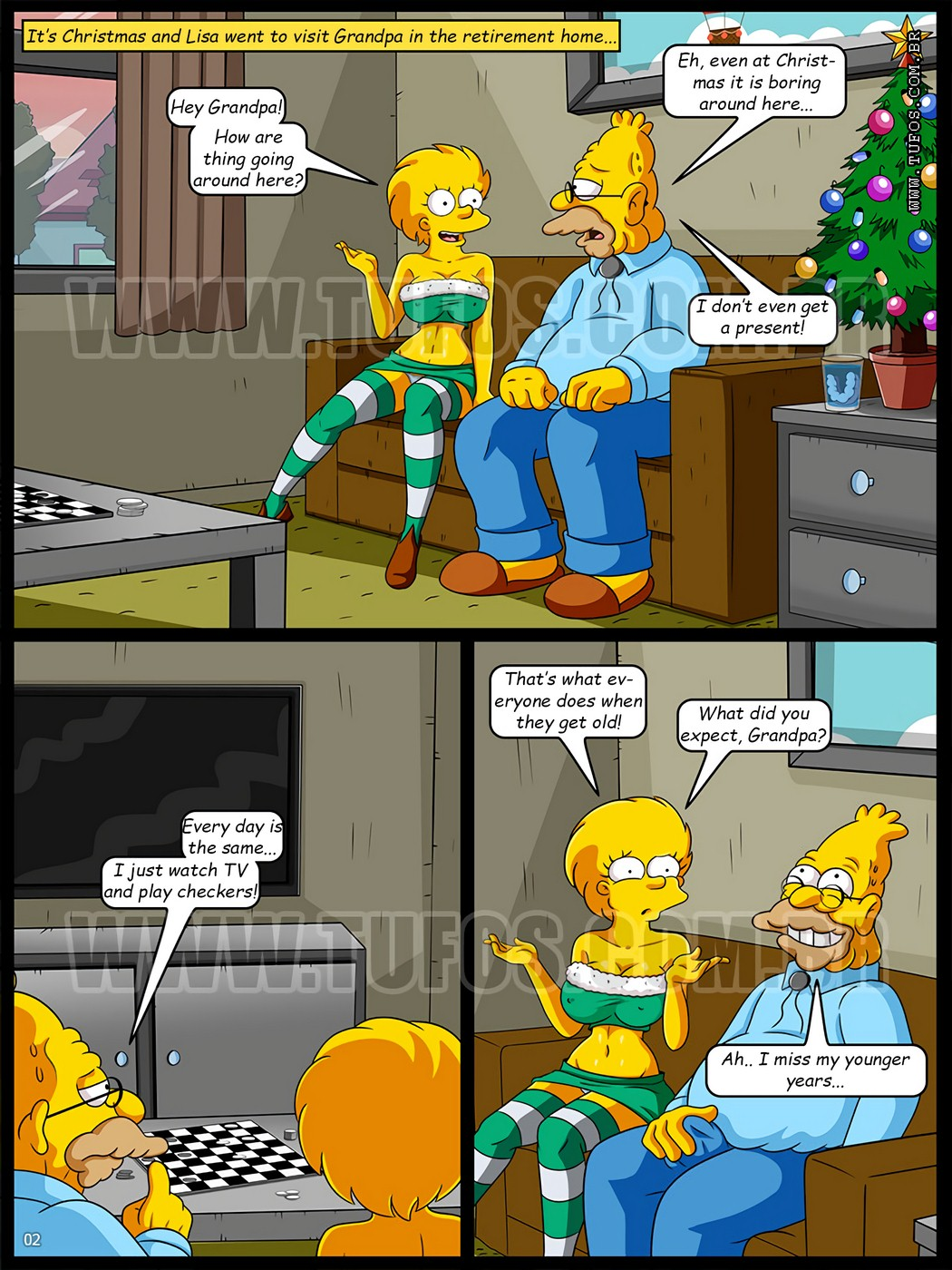 Christmas at the Retirement Home – The Simpsons 10