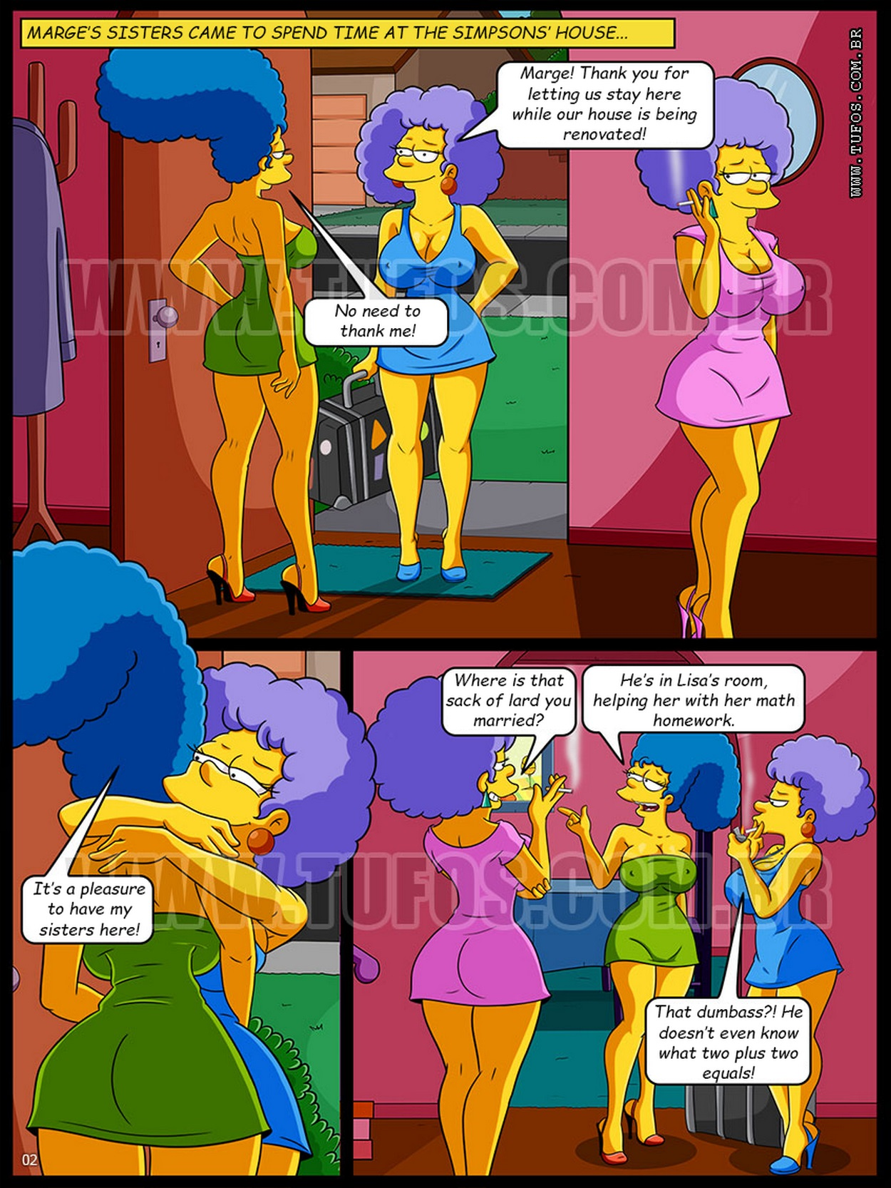 Simpsons – Bath With My Aunts