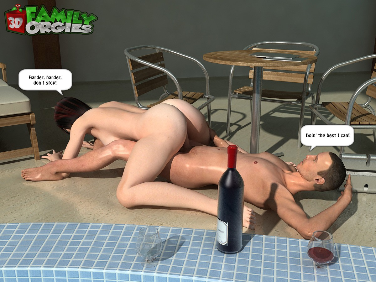 3DFAMILYORGIES-A Poolside Fuck With Mother