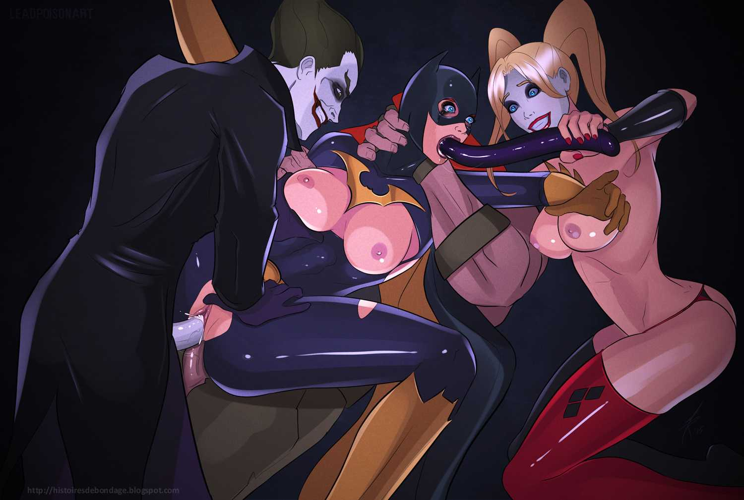 Fall Of Batgirl Bound And Abused