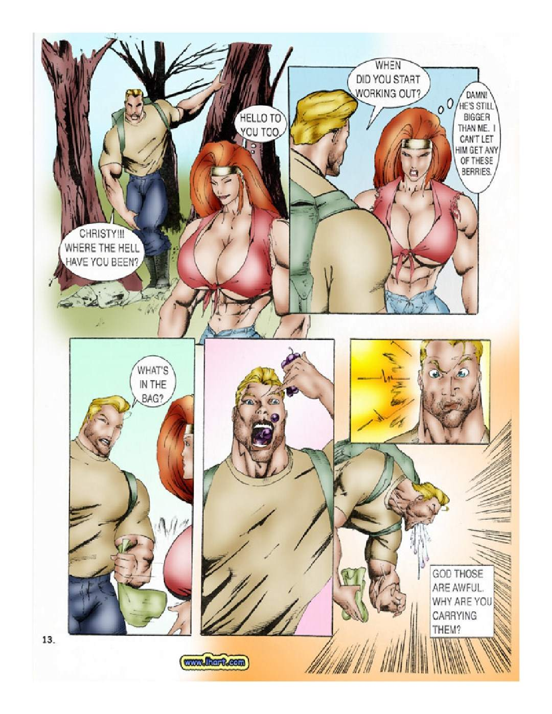 The Bear - Huge Tits Giant Fighter Porn Comix
