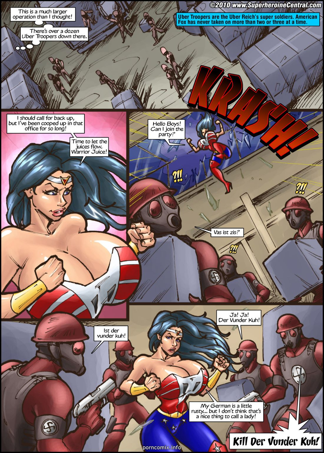 American Fox- Spotlight on Terror- Superheroine