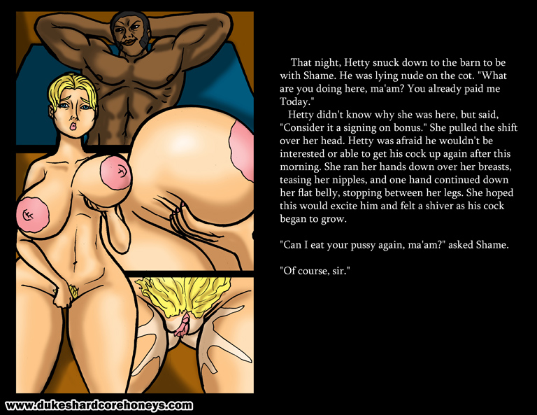 Huge Ass-Duke Sharedcore Honey-Interracial Fuck Comic-The Interview-Big Girls