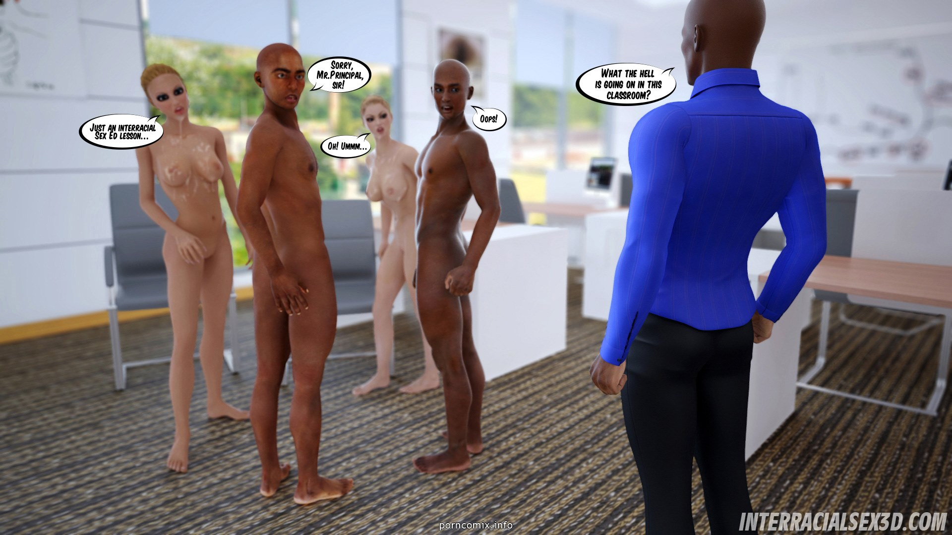 Antiracist School Lesson- Interracialsex3D