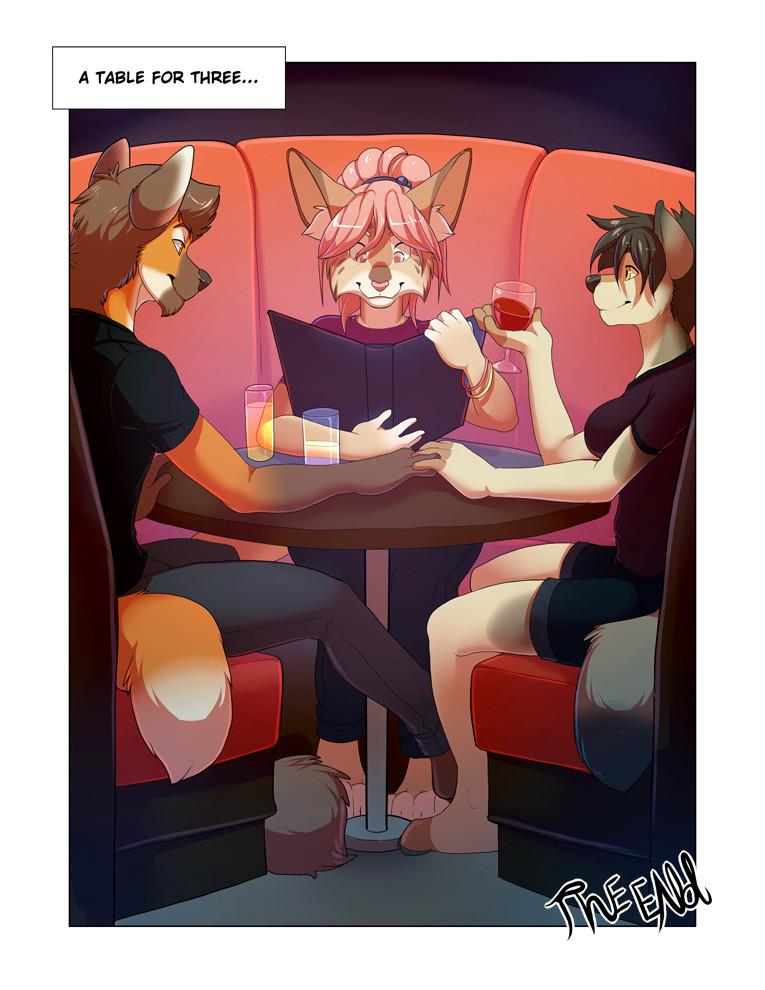 Furry Bi- Table for Three