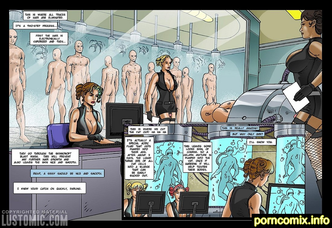 Charlene and the Sissy Factory - Lustomic Porn Comix