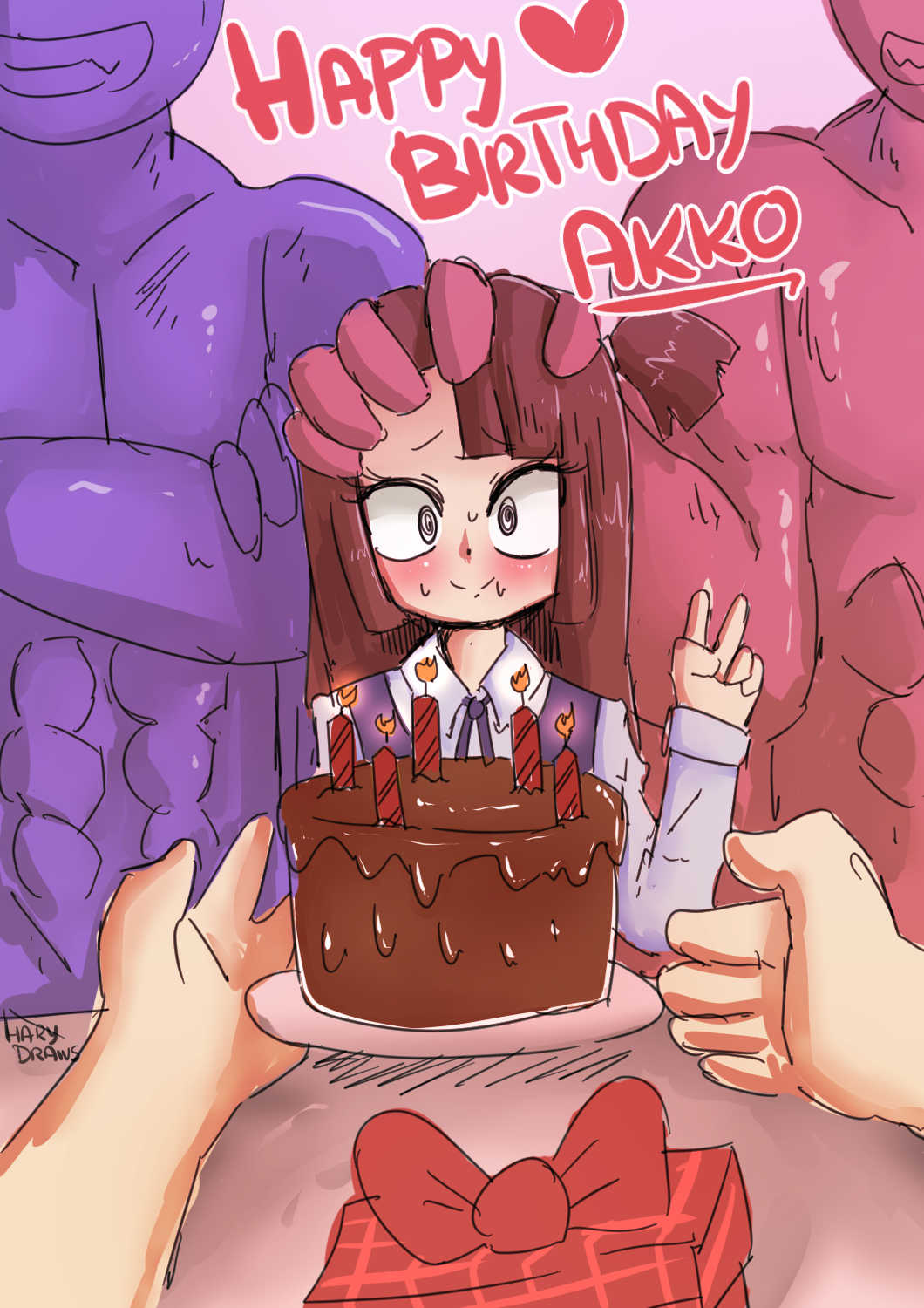 Happy Birthday Akko (Little Witch Academia) by Hary96 | Porn Comics