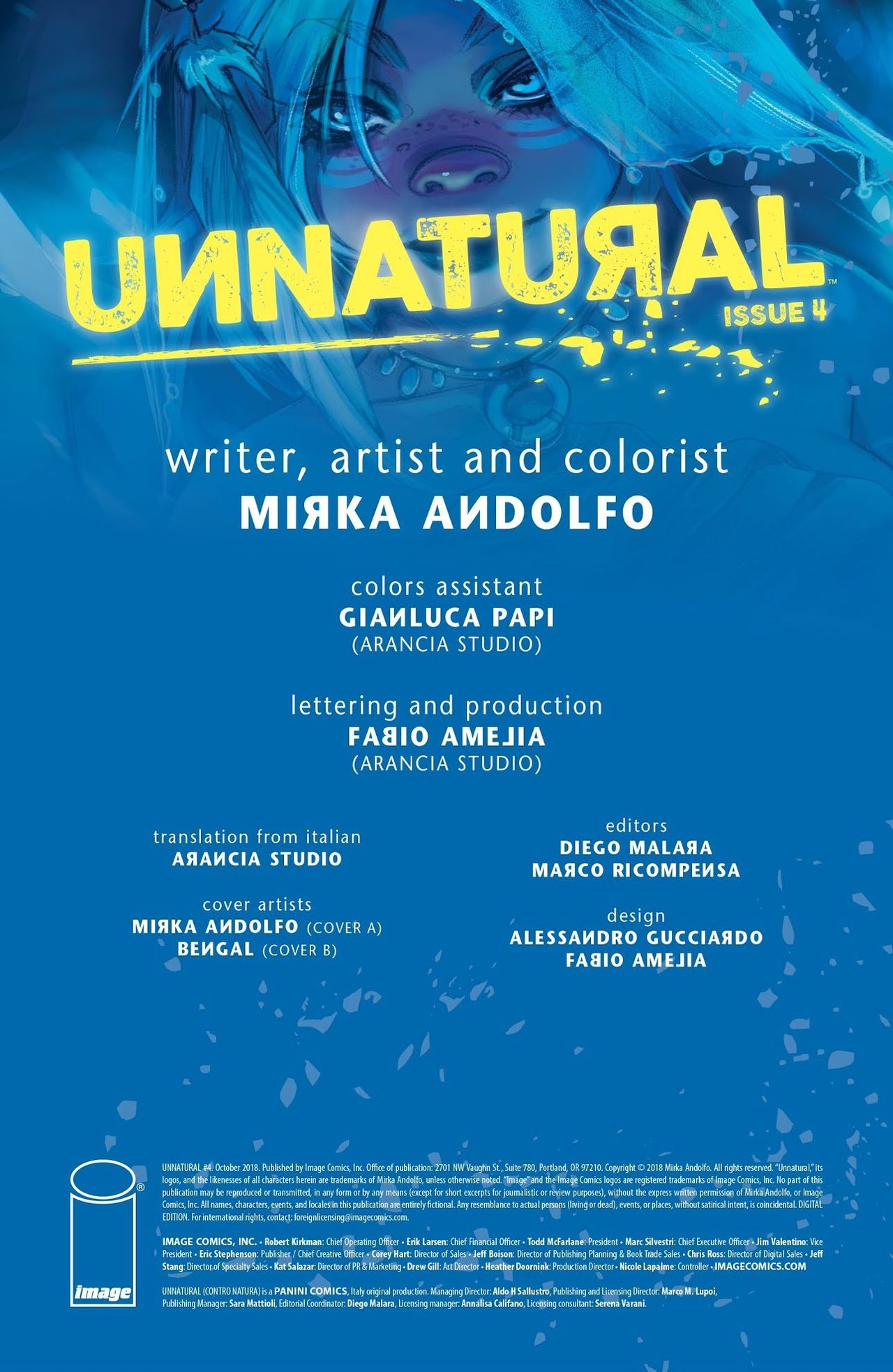 Unnatural Issue 4- Mirka Andolfo