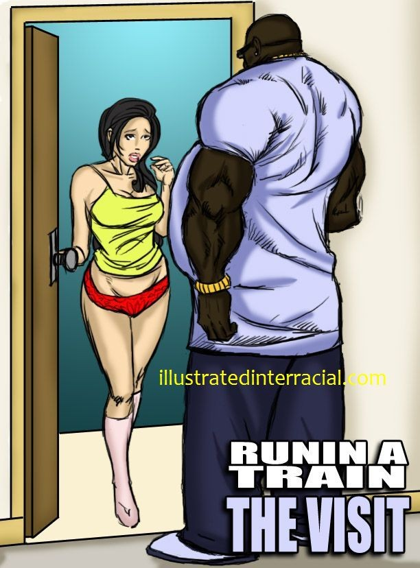 Runin A Train Visit- illustrated interracial