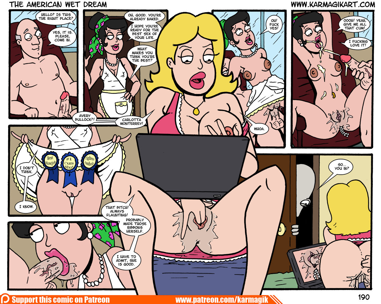 Karmagik-The American Wet Dream (American Dad) [In Progress]- Free Adult Porn Comix