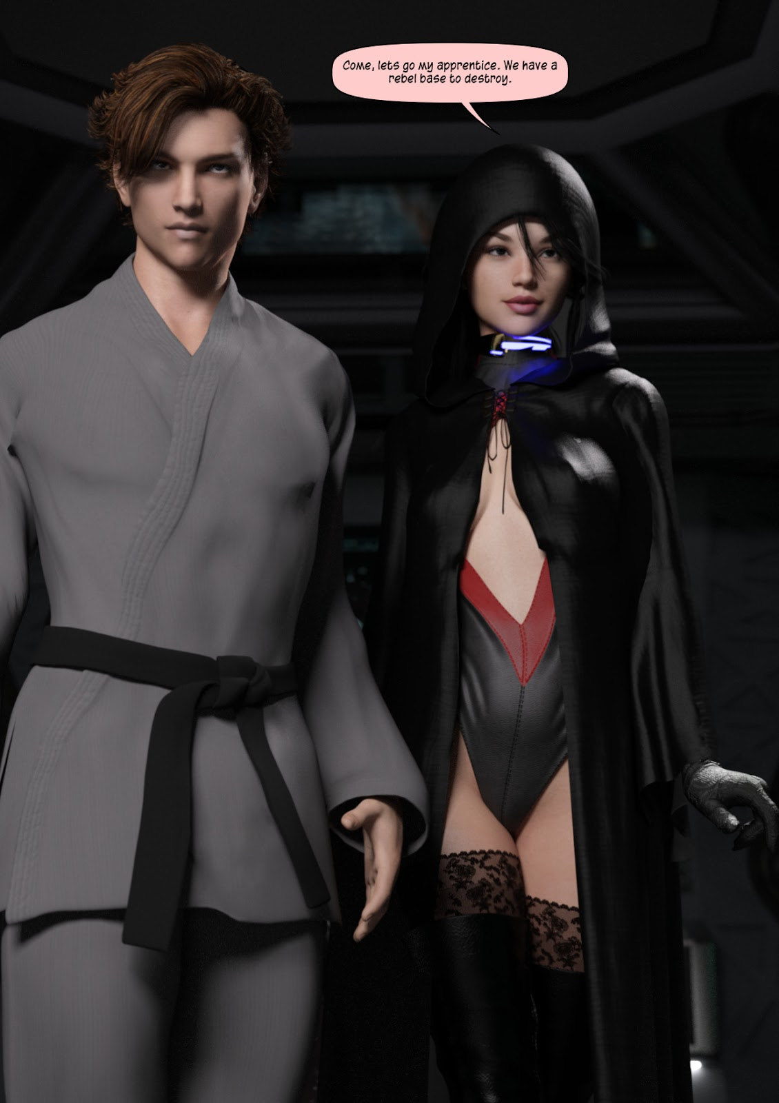 The Dark Side by Johngate, 3D vaginal fuck