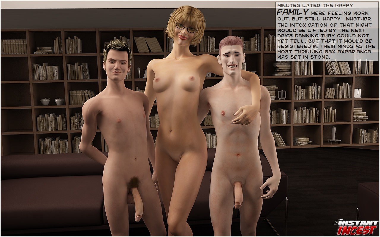 Mom's Threesome with Sons- Instant Incest