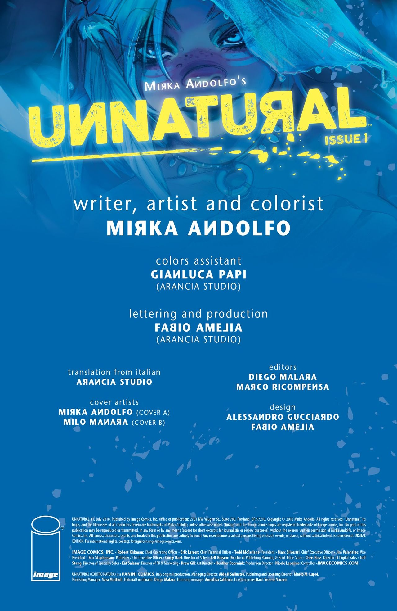 Unnatural Issue 1- Mirka Andolfo