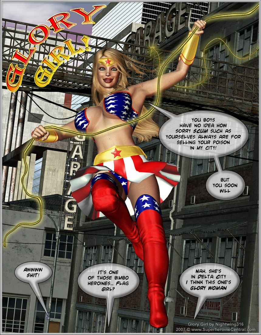 Glory Girl in Over CUM!!- Superherione