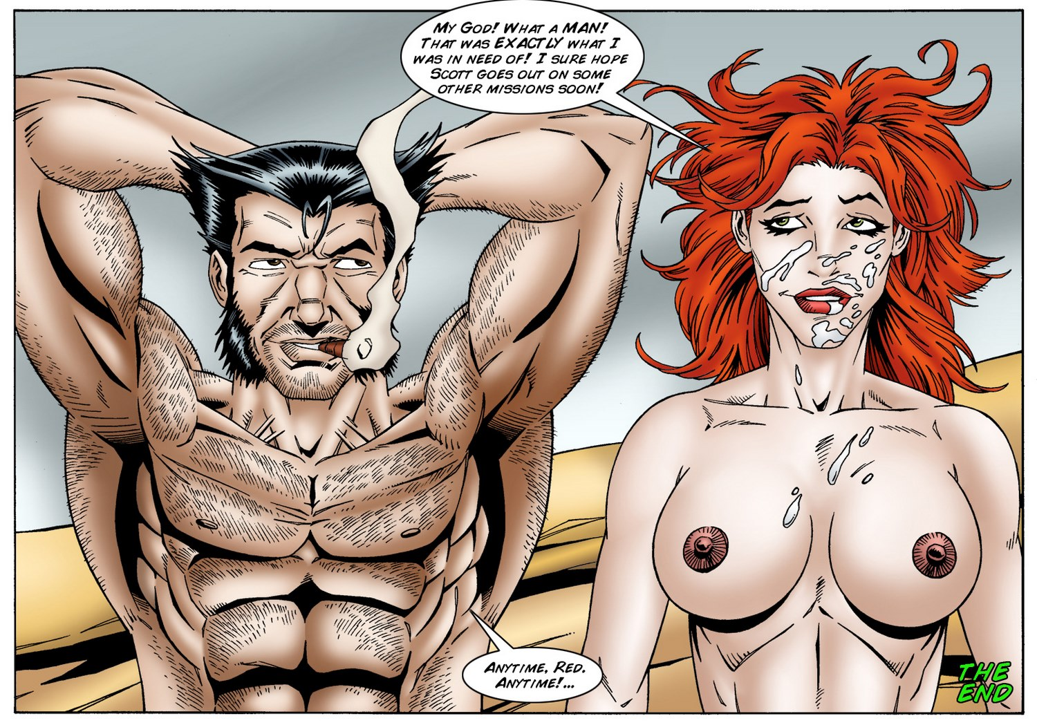 Jean Grey cheats on Scott Summers by Logan- Leandro- Sex Porn Comics