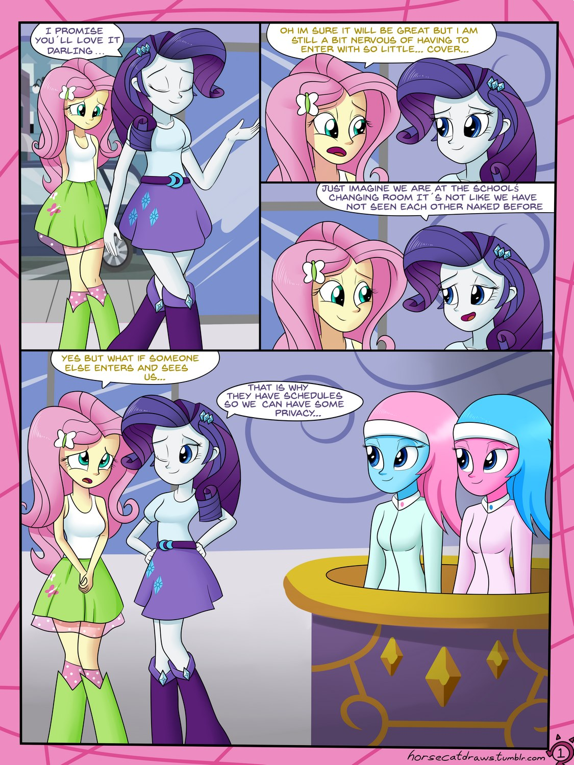 A very normal day at the spa (My little pony)- Horsecat | Porn Comics