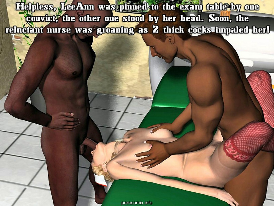 The Prison Nurse - 3D Threesome Adult Porn Comix