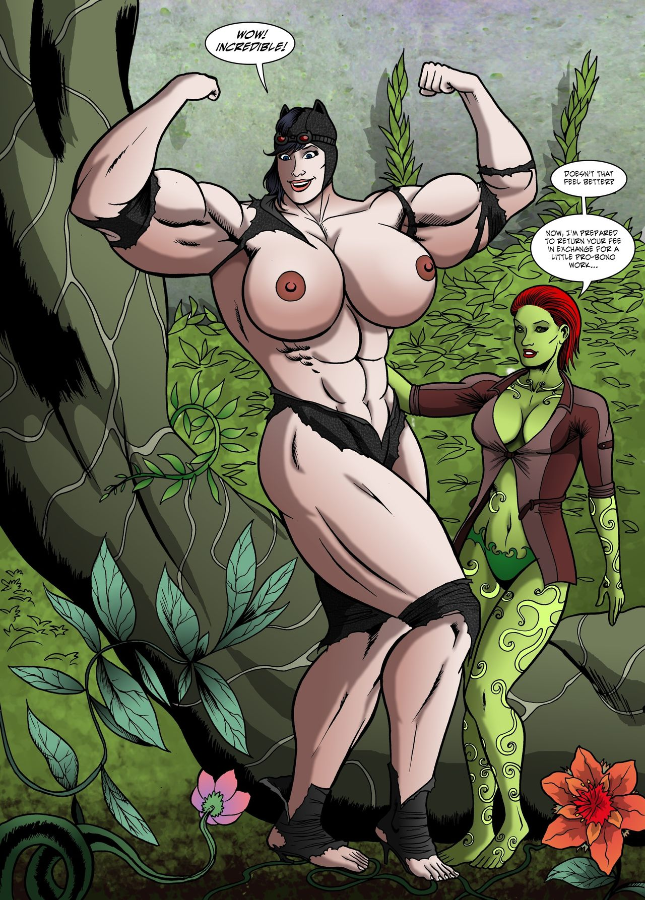 Catwoman Muscle Growth – Manic