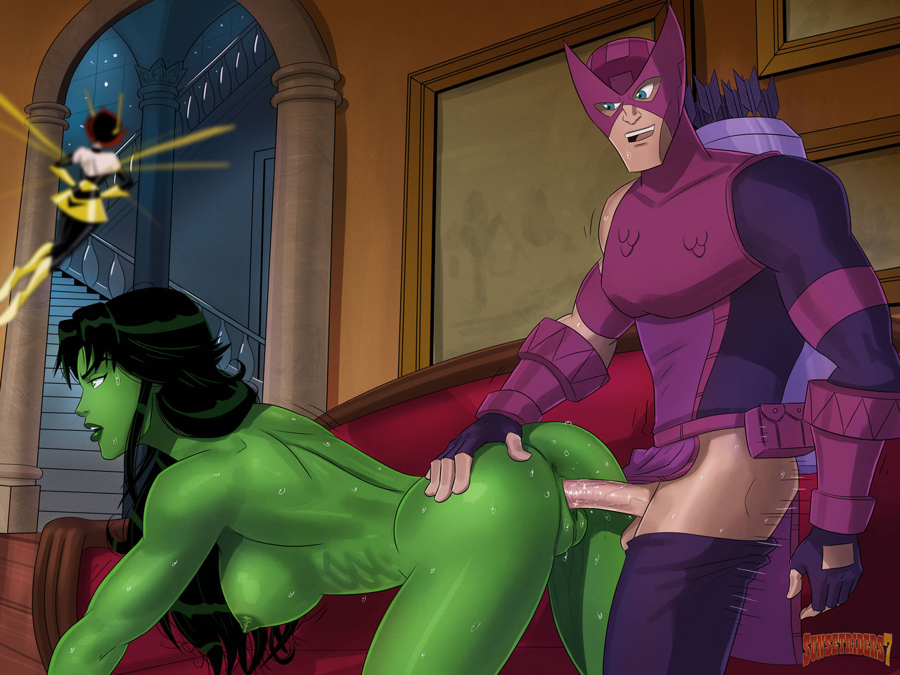 She Hulk and Hawkeye- SunsetRiders7
