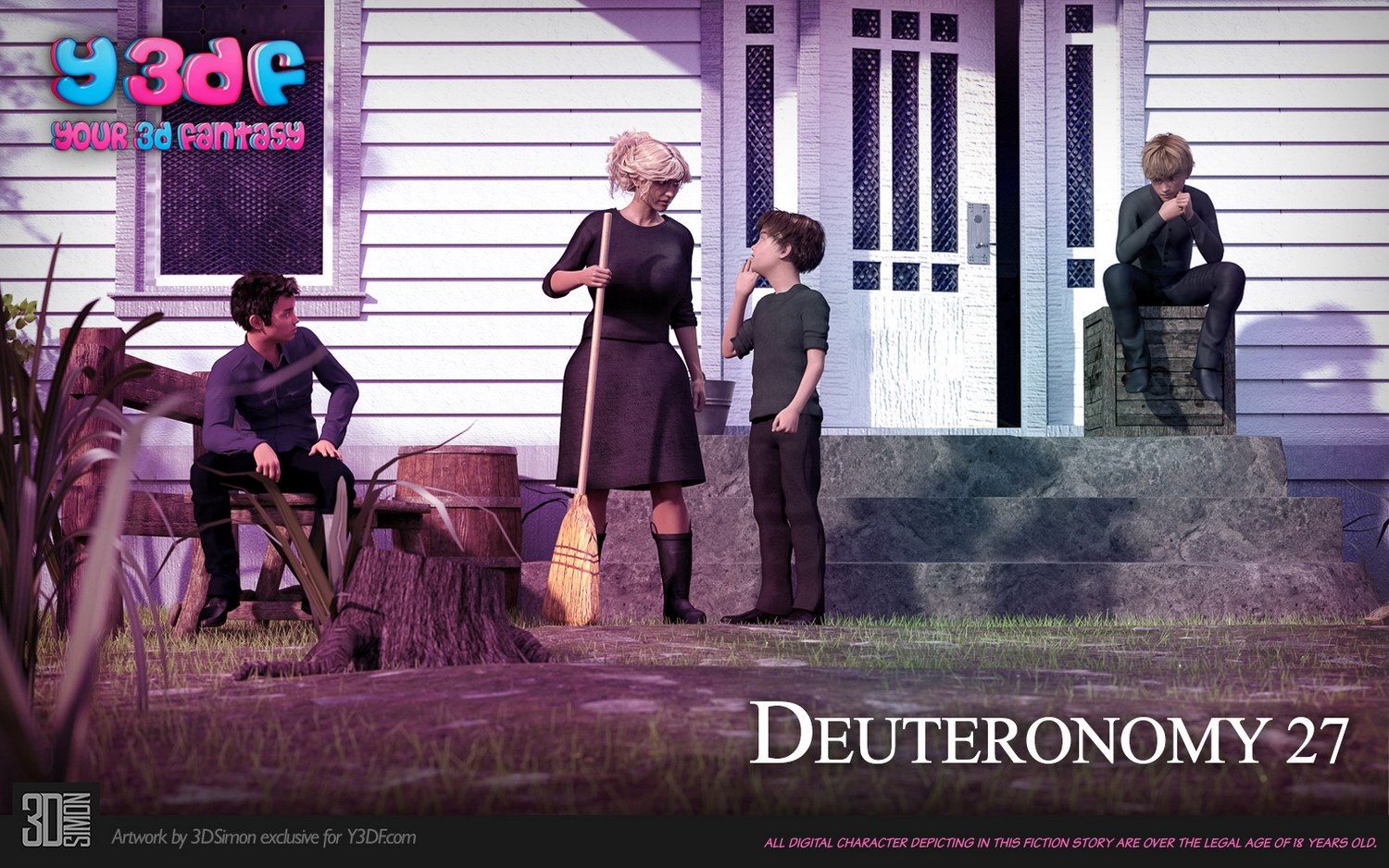 Deuteronomy 4 – Y3DF, Mother Son 3D Incest