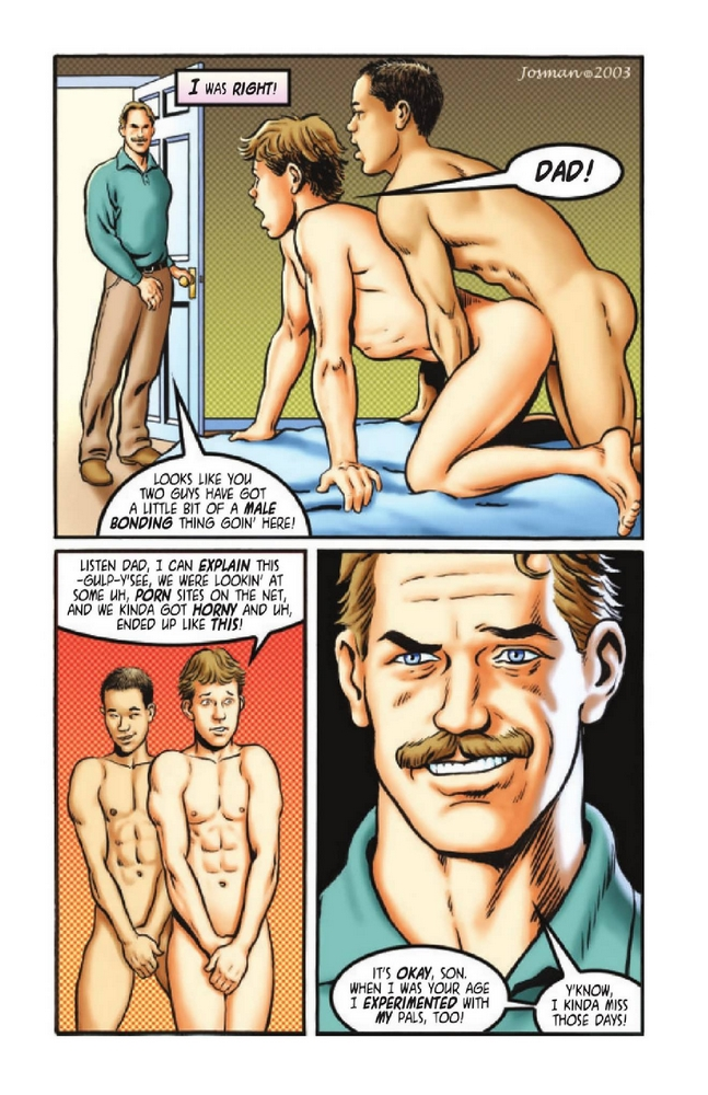 Caught in The Act- Gay Comics