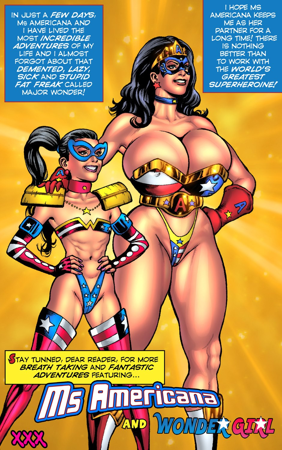 SuperheroineComixx- Ms Americana and Wonder Girl XXX | Porn Comics