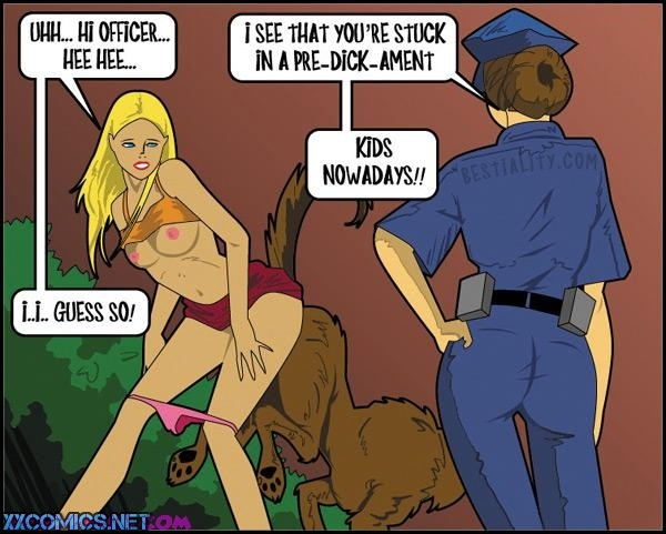 Reno-Courtney the Cop - Beastiality Porn Comix
