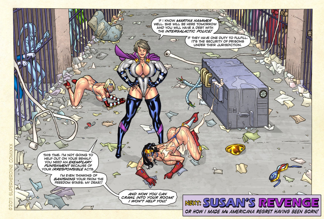 Freedom Stars in Prison Heat- Superheroine