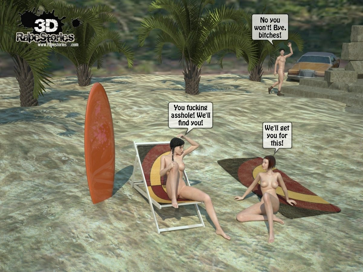 Beach Threesome Sex- 3D R@p Stories